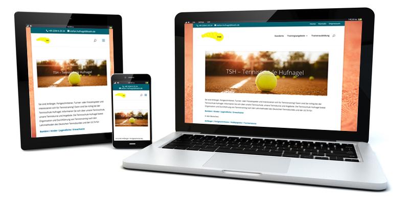 Website der Kölner Tennisschule Hufnagel