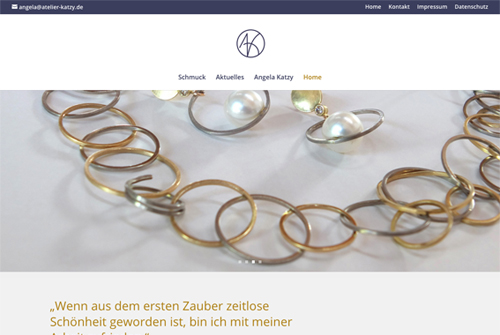Relaunch der Website Angela Katzy, Atelier K