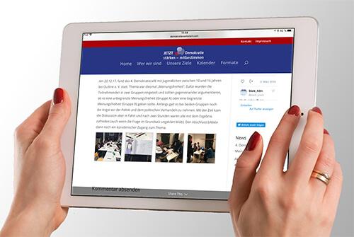 Jetzt auch Online: Jetzt! Demokratie stärken – mitbestimmen